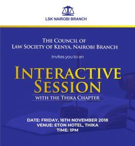 Kiambu Chapter Interactive Session 16.11.2018