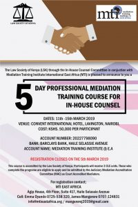 LSK-MTI  In-House Counsel Training March 2019