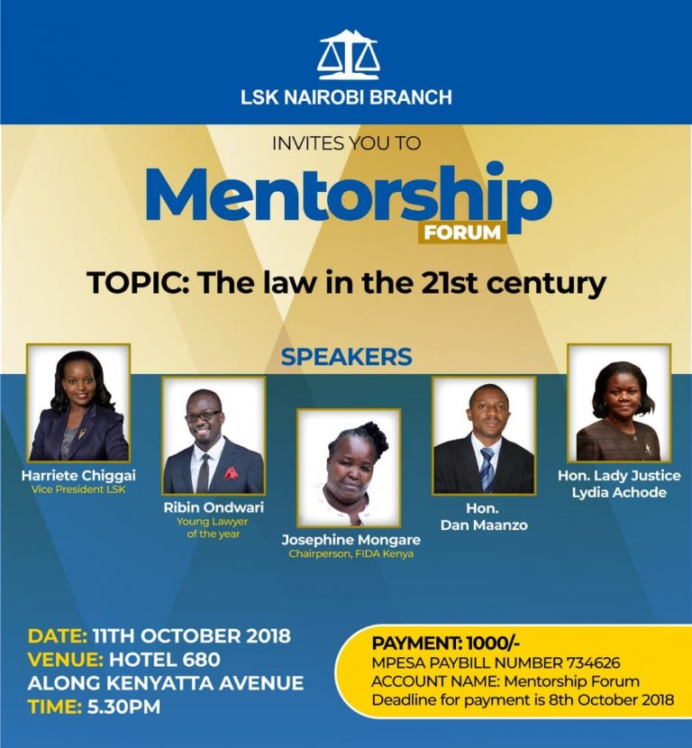 The Law in the 21st Century : Mentorship Forum